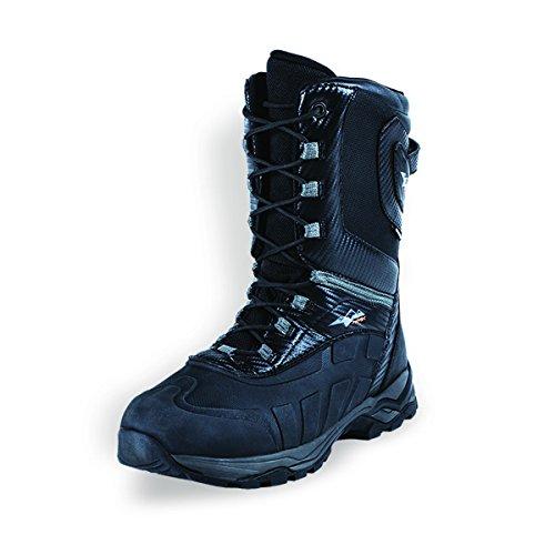 Hmk Snowmobile Boots (HMK Men's Carbon Lace Boots (Black, Size 11))