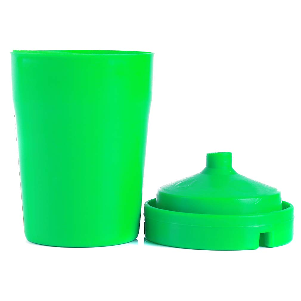 SOURBAN Portable Cigar Ash Tray Car Ashtray Auto Smokeless Stand Truck Cigarette Double Layer Cylinder Cup Holder Durable,Green