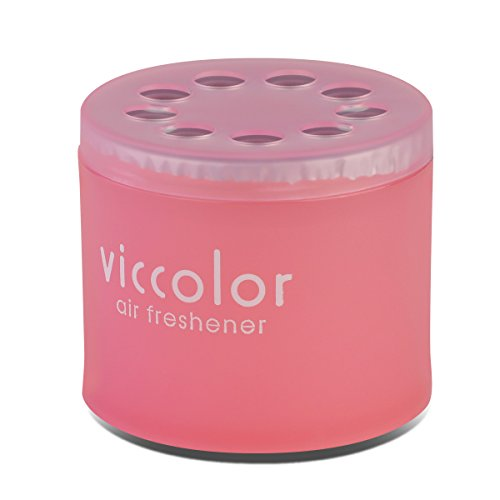 VicColor Gel Based Peach & Kiss Scent Japanese Under-The-Car Air Refresher / Odor Eliminator Can (Pink)