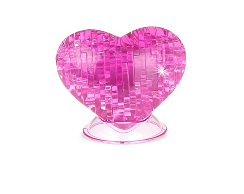ファッション Huaji DIY 3d Crystal Puzzle Puzzle Jigsawラブハートブロックおもちゃ – ピンク – Crystal B076D8Q18Z, マルツオンライン:5106882e --- clubavenue.eu