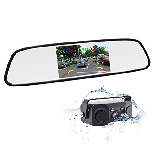 Accfly Backup Camera Waterproof Rear View Camera IR Night Vision Car Rearview Mirror With Reverse/Rear View Cam tft-lcd (style2)