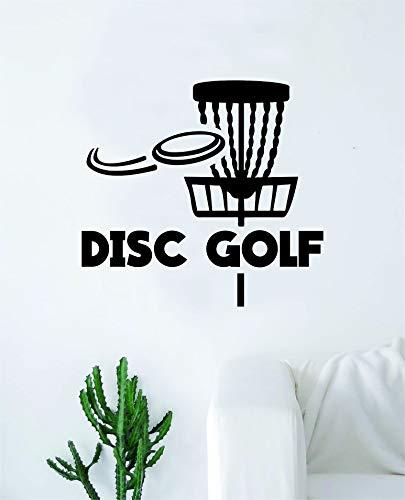 Disc Golf Basket V3 Wall Decal Sticker Vinyl Art Bedroom Living Room Decor Decoration Teen Quote Inspirational Boy Girl Sports Frisbee Throw Basket Chains Throw Putter Long Distance Mid Range Bag