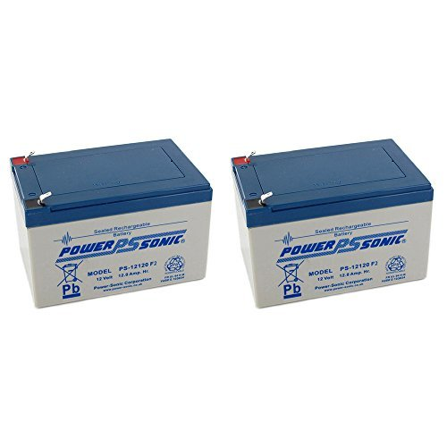 BATTERY REPLACEMENT for POWER-SONIC PS-12120F2 PS-12120 F2,12V 12AH EA. - 2 Pack by Powersonic