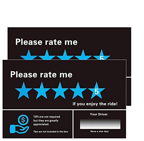 5 Star Seat - Uber Lyft Sign , Tips Appreciated Sign ,Uber 5 Star Rating Sign - Removable Rideshare Decal - For Rideshare Drivers - 2 Pcs - WildAuto