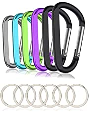 12KN Carabiner D Shape Screw Locking Key Chain Hook Clip Outdoor Camping Hiking