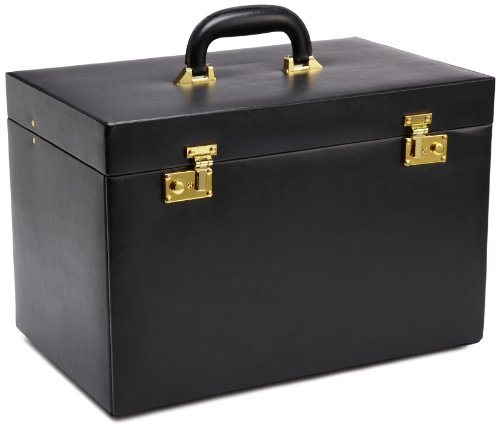 WOLF 280802 Heritage Jewelry Trunk, Black by WOLF (Image #2)
