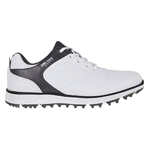 Stuburt Golf 2019 Mens Evolve Leather Comfort Waterproof Spikeless Golf Shoes White/Storm 12UK (Best Mens Golf Shoes 2019)