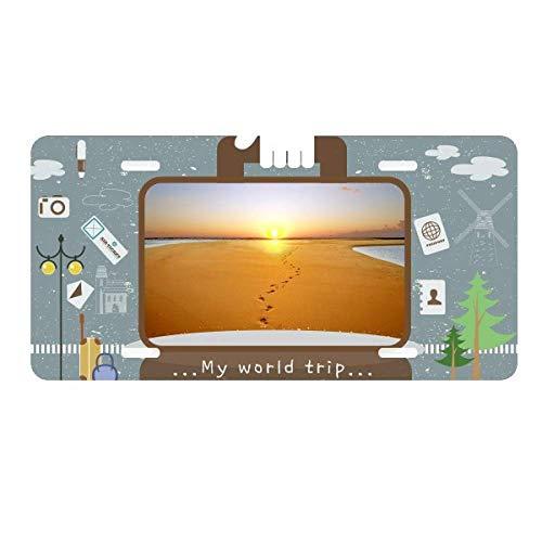 - DIYthinker Footprint Sunset Silk Road Camel Desert License Plate Car Decoration Tin Sign Travel
