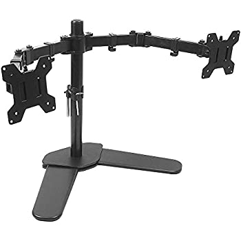 Amazon Com Wali Free Standing Dual Lcd Monitor Desk Mount