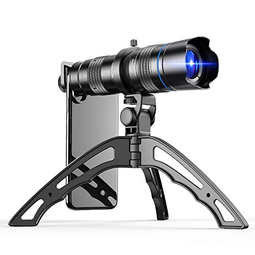 Apexel HD 20-40X Zoom Lens with Tripod Telephoto Mobile Phone Lens Telescope for iPhone Samsung Other Smartphones…