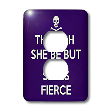 3dRose lsp/_128183/_6 Though She Be But Little She Is Fierce Shakespeare Humor 2 Plug Outlet Cover