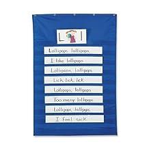 "Pacon Standard Pocket Chart, 34""X50"", Blue"