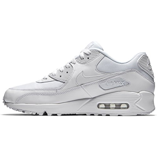 Nike Mens Air Max 90 Essential Exercise Fitness Running Low Cut Sneakers - White/White - 9 by NIKE (Image #3)