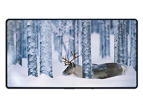 Mouse Pad 15.7 inch X 29.5 inch,Sweden Reindeer Premium Quality Anti Slip Computer PC Gaming Mouse Mat Soft Comfort