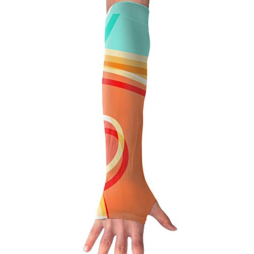 HBSUN FL Unisex Curves Colorful Art Anti-UV Cuff Sunscreen Glove Outdoor Sport Riding Bicycles Half Refers Arm Sleeves by HBSUN FL