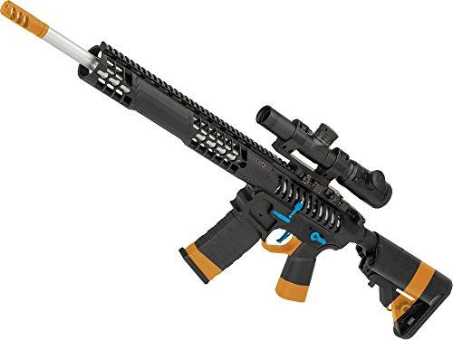 Evike EMG F1 Firearms BDR-15 3G AR15 Full Metal Airsoft AEG Rifle (Color: Black/Blue Selector/Crane Stock) -