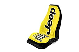 Seat Armour Universal Fit Jeep Towel-2-Go Seat Protector - Yellow