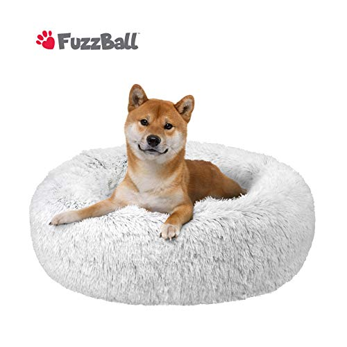 FuzzBall Fluffy Luxe Pet Bed, Anti-Slip, Waterproof Base, Machine Washable, Durable - 3 Colors Available