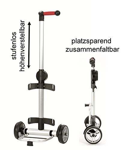 Andersen Unus Shopper Hydro Alu Thermofach Einkaufstrolley (Schwarz)
