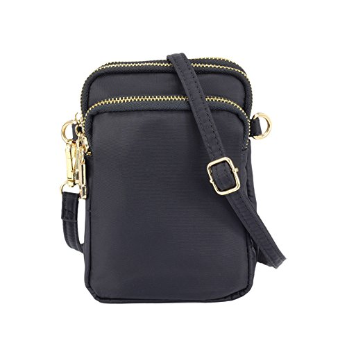 ZORFIN Nylon Small Crossbody Bags for Women Waterproof Cell Phone Purse by ZORFIN