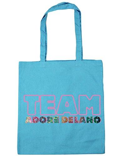 HippoWarehouse equipo Adore Delano Tote Compras Bolsa de playa 42cm x38cm, 10litros azul (Surf Blue)