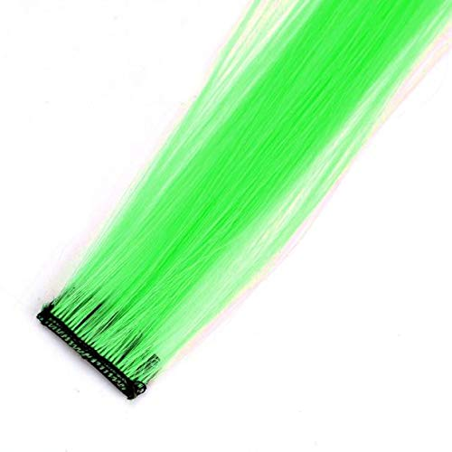 Aviat Hair Wig Piece Fluorescent Green Stylish Gradient Hairpieces Pieces Hair Extensions Decor for Party/Halloween/Cosplay/Daily Use