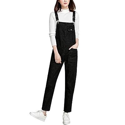 Lentta Women's Loose Baggy Denim Bib Harem Overalls Romper Jumpsuit Pants: Clothing