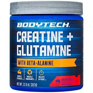 BodyTech Creatine Glutamine with Beta Alanine Fruit Punch Supports Muscle Growth, Recovery Immune Health (12.6 Ounce Powder)