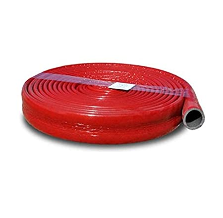18mm Red Coated Pipe Insulation Foam in Coil Length - 10 meters Strong  Round Tube Lagging Thermal Acoustic Water Pipe Wrap (18mm, Red)