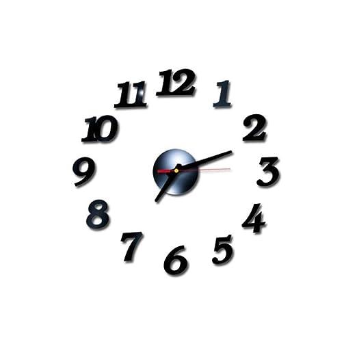 WRQZG Reloj De Pared Exquisito 3D DIY Números Romanos Espejo ...