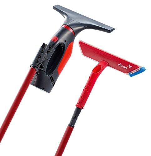 Vileda Windomatic Window Vacuum Cleaner, Plastic, red, 12 x 27 x 12 cm VILBF 159192