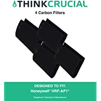 4 Replacements for Honeywell A Carbon Filter Fits HRF-AP1 Air Purifiers, Compatible With Part # 38002, by Think Crucial