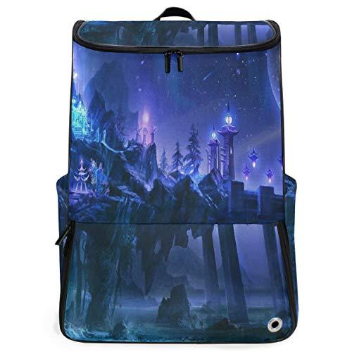 Ladninag Laptop Backpack Magic Palace School Backpack for Women Large Weekender Daypack
