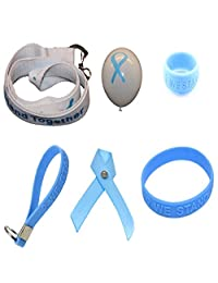 Light Blue Ribbon Awareness Large Fundraising Kit