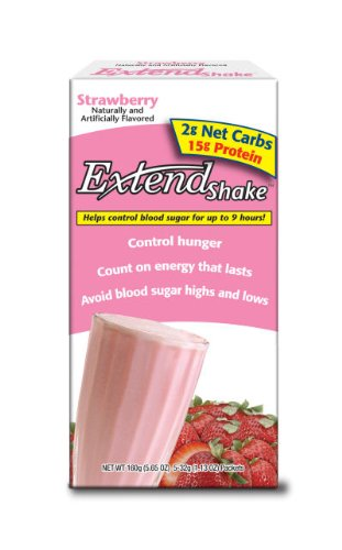 ExtendShake, Strawberry, 5-Count Servings (Pack of 3)