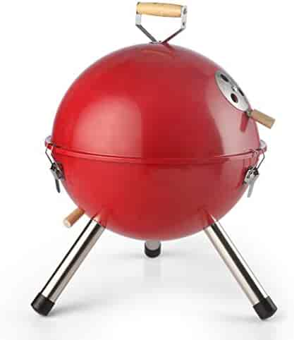 0887ced7a065fd KITCHEN&HIFUN Red Christmas 12-Inch Portable Grills,Mini Indoor Outdoor  Tabletop Charcoal
