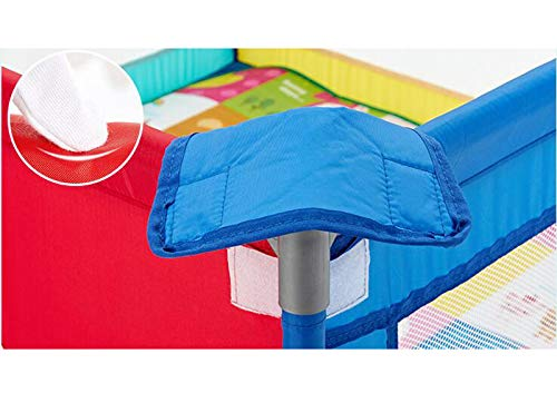 Infant Toddler Fence Household Shatter-Resistant Toys House Baby Game Playpen Children's Safety Fence Crawling Bar with Mats, Size Optional (Size : 150×190cm) by Child safety gate (Image #4)