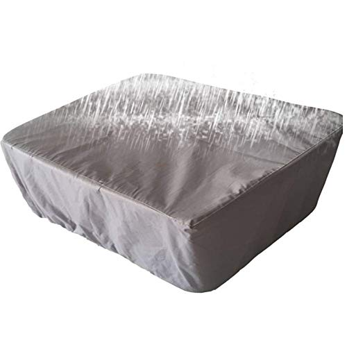 DHJD Cube Rectangle Rattan Furniture Cover Waterproof Dustproof Cloth Table and Chair Cover (Color : Gray, Size : 250x250x90cm) (Patio Seat 4 Furniture Rattan Cube Set)