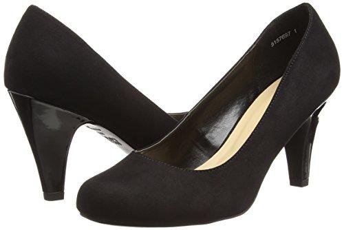 Black Wide para Mujer Foot Negro de Look New Zapatos Tacón Really pxnvqTxw5O