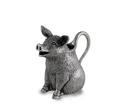 Vagabond House Happy Pewter Pig Creamer 4