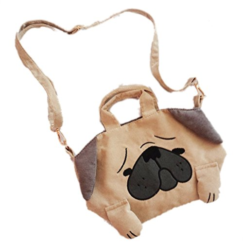 EBISSY Dog Shape Shoulder Bag [ Cute Troubled Face Pug ] Animal Handbag For Girls (Bag Shape)