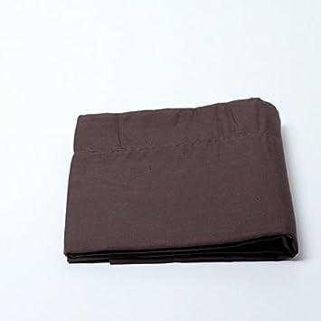 100/% coton Chocolat - 90 x 190 cm Drap housse Marron
