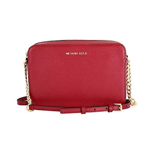 Michael Kors Jet Set Ladies Large Red Leather Crossbody 32S4GTVC3L550