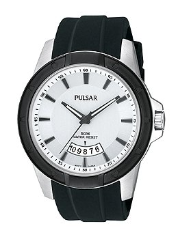 Pulsar Men's PS9277 On The Go Analog Display Japanese Quartz Black Watch