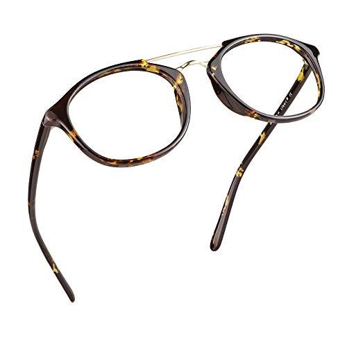 LifeArt Blue Light Blocking Glasses, Anti Eyestrain, Computer Reading Glasses, Gaming Glasses, TV Glasses for Women Men, Anti Glare (Tortoise, +0.00 Magnification)