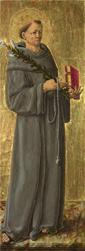 [Perfect Effect Canvas ,the Beautiful Art Decorative Canvas Prints Of Oil Painting 'Giorgio Schiavone Saint Anthony Of Padua ', 16 X 47 Inch / 41 X 120 Cm Is Best For Garage Gallery Art And Home Decoration And] (Safari Guide Costume Uk)