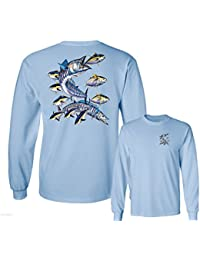 Wahoo Fish Albacore Yellowfin Tuna Fishing Long Sleeve T-Shirt