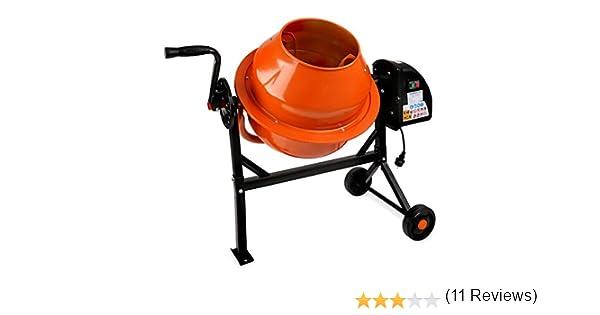 EBERTH 65L Hormigonera (220W, 2 Ruedas, Reposapiés, Motor robusto, Marco de acero estable): Amazon.es: Bricolaje y herramientas