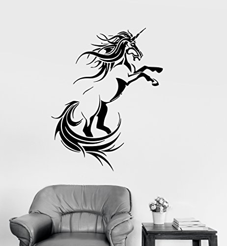 Large Vinyl Decal Unicorn Fantasy Myth Children's Decor Kids Room Wall Stickers (ig007)
