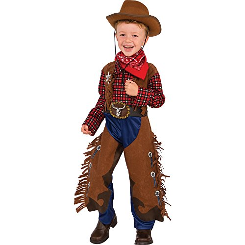 Rubies Costume Child's Little Wrangler Costume, Small, Multicolor (Child Cowboy Chaps)